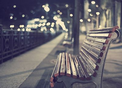 cityscapes, bench, depth of field - random desktop wallpaper