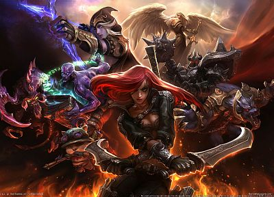 video games, League of Legends, Katarina the Sinister Blade - random desktop wallpaper