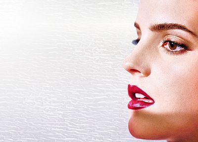 brunettes, women, Emma Watson, actress, lips, celebrity, brown eyes, profile - desktop wallpaper