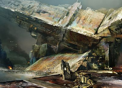 fantasy art, science fiction, artwork, Daniel Dociu - related desktop wallpaper