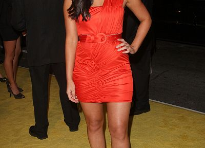 women, Olivia Munn, red dress - random desktop wallpaper