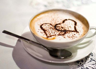coffee, coffee cups, hearts - random desktop wallpaper