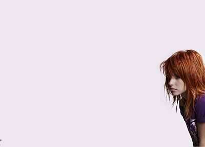 Hayley Williams, women, music, redheads, singers, white background - related desktop wallpaper