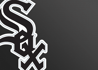 black, Chicago, sports, baseball, MLB, logos, Chicago White Sox - random desktop wallpaper