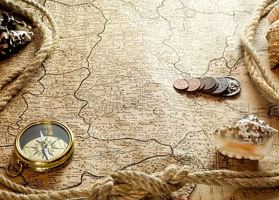maps, compasses, old map - random desktop wallpaper