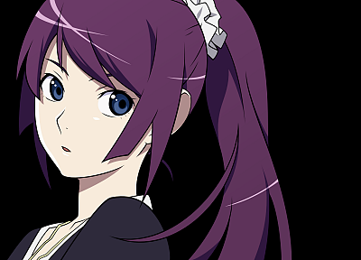 vectors, Bakemonogatari, transparent, Senjougahara Hitagi, anime girls, Monogatari series, anime vectors - desktop wallpaper