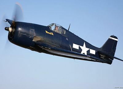 aircraft, airplanes, navy, grumman, F6F Hellcat - random desktop wallpaper