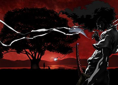 Jigoku Shoujo, Afro Samurai - related desktop wallpaper