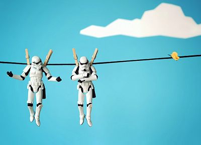Star Wars, stormtroopers, action figures - desktop wallpaper