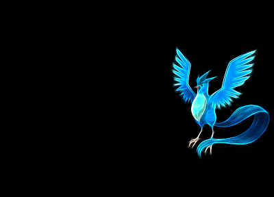 Pokemon, Articuno, simple background, black background - related desktop wallpaper