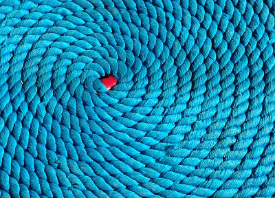 blue, coil, ropes - desktop wallpaper