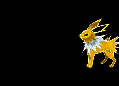 Pokemon, Jolteon, simple background, black background - desktop wallpaper