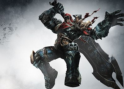video games, Darksiders, armor, artwork, swords - related desktop wallpaper