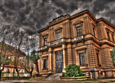 HDR photography, post office, yoctox - random desktop wallpaper