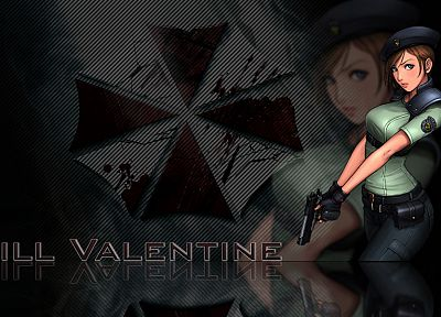 video games, Resident Evil, Jill Valentine, Umbrella Corp. - desktop wallpaper