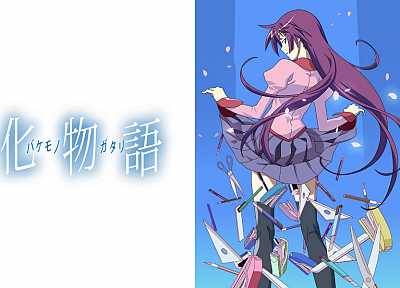 Bakemonogatari, Senjougahara Hitagi, anime girls, Monogatari series - related desktop wallpaper