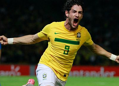 sports, soccer, Brazil, Alexandre Pato - desktop wallpaper