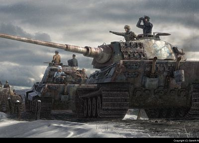 tanks, King Tiger - random desktop wallpaper