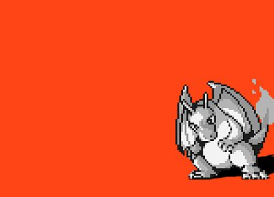 Pokemon, Charizard, simple background - random desktop wallpaper