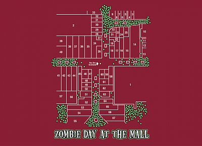 red, zombies, maps, mall, Plan - random desktop wallpaper