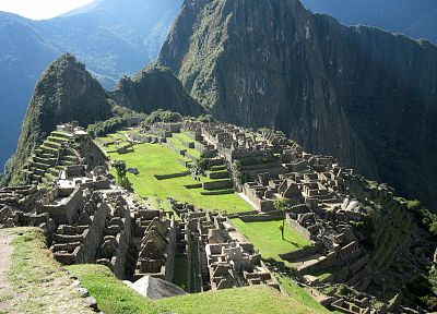 landscapes, buildings, Peru, ancient, Machu Picchu - random desktop wallpaper