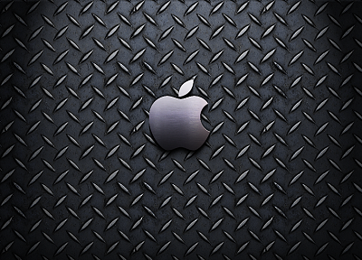 Apple Inc., Mac, steel, textures, logos - related desktop wallpaper