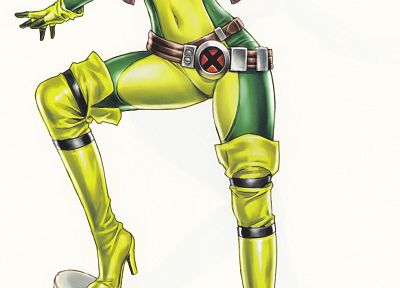comics, X-Men, superheroes, Rogue, artwork, Marvel Comics, comics girls - desktop wallpaper
