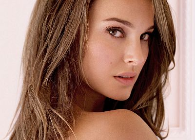 brunettes, women, Natalie Portman, upscaled - random desktop wallpaper