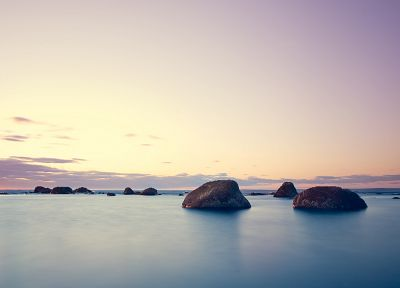 water, ocean, rocks - random desktop wallpaper