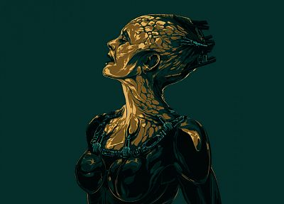 Star Trek, digital art, artwork, Borg Queen - random desktop wallpaper