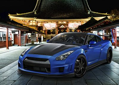 cars, tuning, Nissan GT-R - random desktop wallpaper