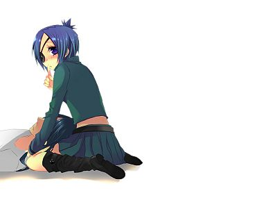 Katekyo Hitman Reborn, skirts, Dokuro Chrome, purple eyes, Rokudo Mukuro, anime girls - random desktop wallpaper