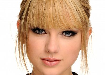 blondes, women, eyes, blue eyes, Taylor Swift, celebrity, white background - related desktop wallpaper