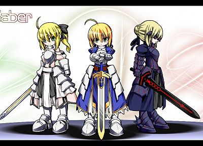 Fate/Stay Night, Fate Unlimited Codes, anime, Saber, anime girls, Saber Lily, Fate/EXTRA, Saber Alter, Fate series - related desktop wallpaper