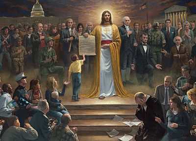 USA, Jesus Christ, John F. Kennedy, Benjamin Franklin, Lincoln, Washington, Jesus, McNaughton - random desktop wallpaper