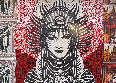 graffiti, obey, Shepard Fairey - random desktop wallpaper