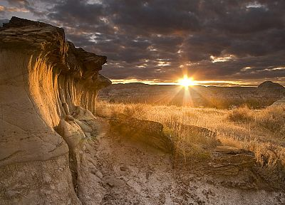 sunset, landscapes, nature, deserts - related desktop wallpaper