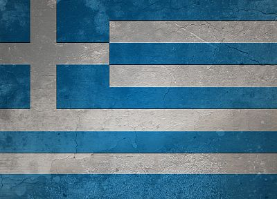 grunge, flags, Greece - desktop wallpaper