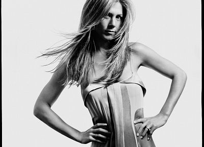 women, actress, Jennifer Aniston, grayscale, monochrome - related desktop wallpaper