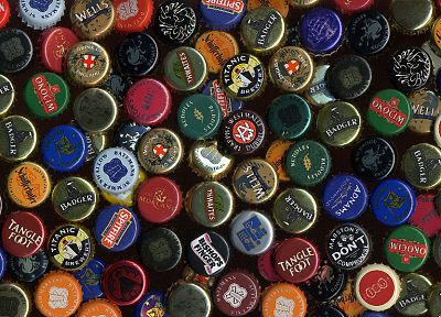 beers, bottle caps, caps - random desktop wallpaper