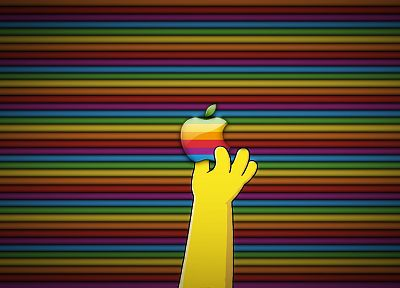 multicolor, Apple Inc., The Simpsons, stripes - random desktop wallpaper