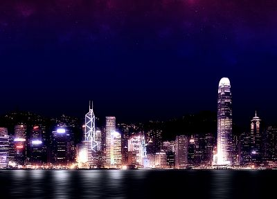 cityscapes, night, buildings - random desktop wallpaper