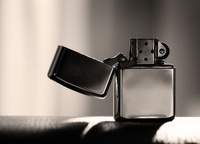 Zippo, monochrome, lighters - random desktop wallpaper