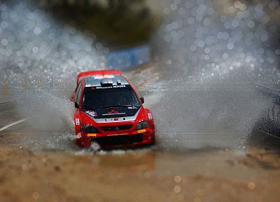 rally, macro, Mitsubishi Lancer - random desktop wallpaper