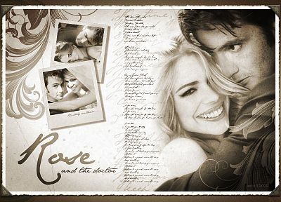 text, Rose Tyler, David Tennant, typography, Billie Piper, Doctor Who, Tenth Doctor - desktop wallpaper