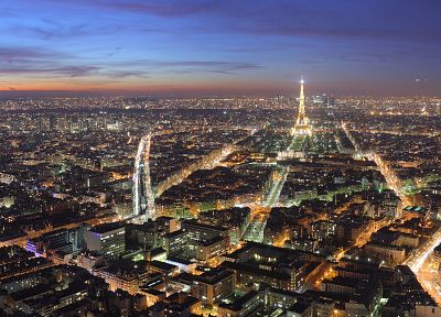 Paris, cityscapes, night, buildings - desktop wallpaper