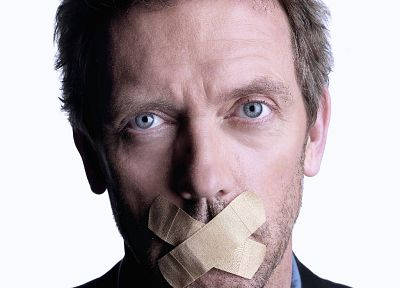 Hugh Laurie, Gregory House, bandaids, House M.D. - random desktop wallpaper