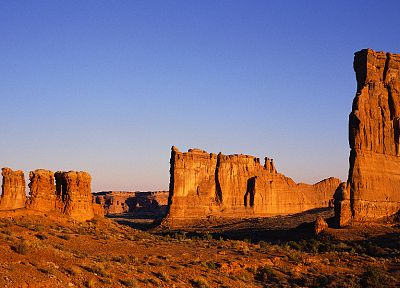nature, Sun, canyon, Arches National Park, multiscreen - related desktop wallpaper