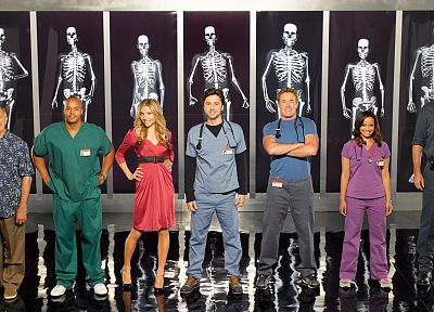 Scrubs, Sarah Chalke, X-Ray, Zach Braff, Donald Faison, Neil Flynn, Ken Jenkins, John C. McGinley, Judy Reyes, stethoscopes - related desktop wallpaper