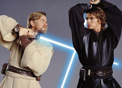 Star Wars, Ewan Mcgregor, Anakin Skywalker, Hayden Christensen, Obi-Wan Kenobi - desktop wallpaper